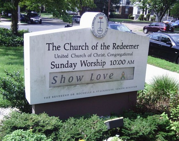 "Church of the Redeemer, on Whitney Avenue in New Haven, recently changed the message on the sign on front to read ""Show Love,"" inspired by the teachings and preachings of three-month interim pastor Kevin Ewing."