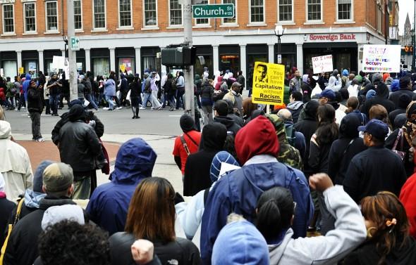 A Trayvon Martin rally in New Haven (photo: cjzurcher)